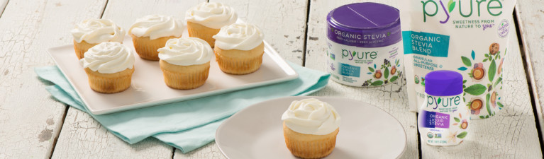 Vanilla Cupcakes with Vanilla Whipped Cream