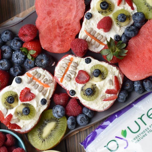 Pyure Watermelon Skulls (Free of Refined Sugar)