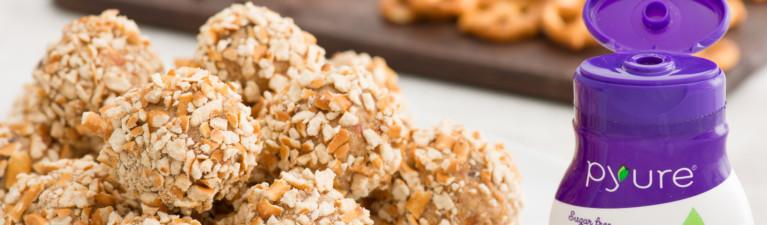 Peanut Butter Pretzel Protein Balls