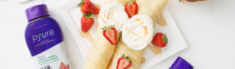 Strawberries & Cream Vanilla Crepes