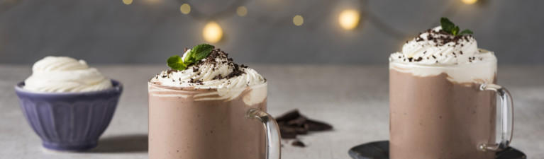 Peppermint Coconut Hot Chocolate